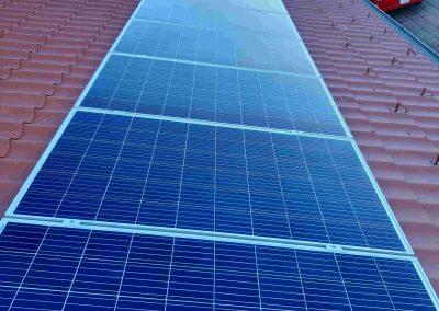4,56 kWp napelem rendszer Magyaratád Tornacsarnok 2