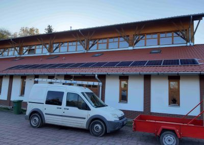 4,56 kWp napelem rendszer Magyaratád Tornacsarnok 3