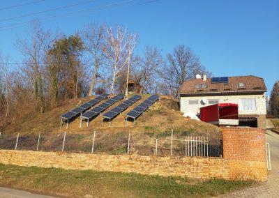 7 kWp napelem rendszer Kaposvár, talajra telepített 2