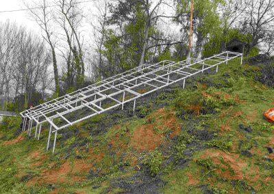 7 kWp napelem rendszer Kaposvár, talajra telepített