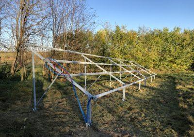 10,2 kWp talajra telepített napelem rendszer Kaposhomok 1