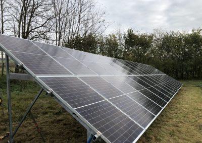 10,2 kWp talajra telepített napelem rendszer Kaposhomok 5